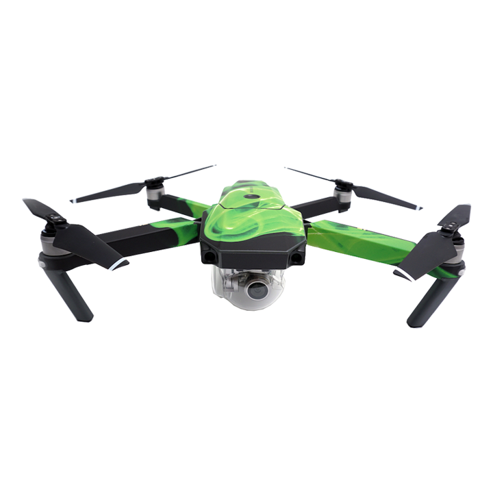 MightySkins Mavic Pro Skins (Green Flames)